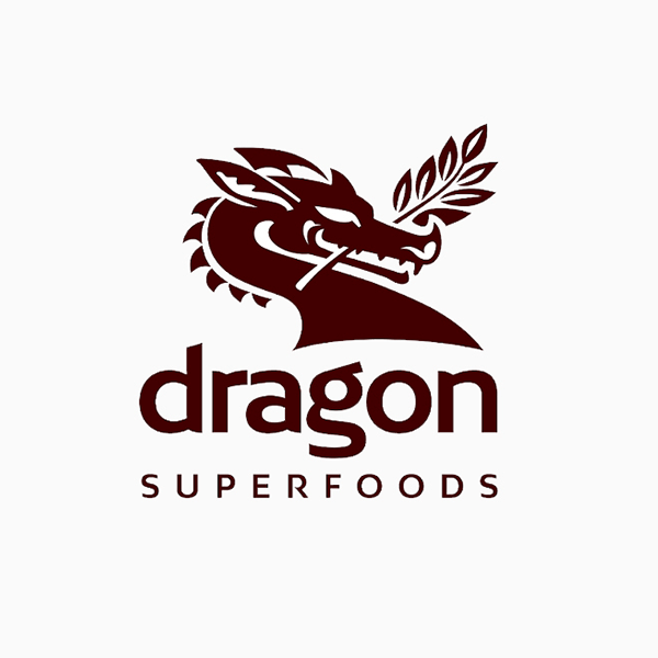 organic shop dragon logo