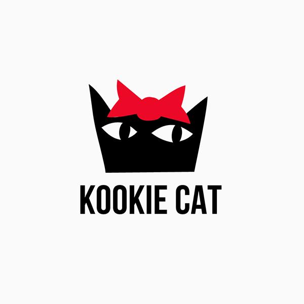 organic shop Kookie cat logo